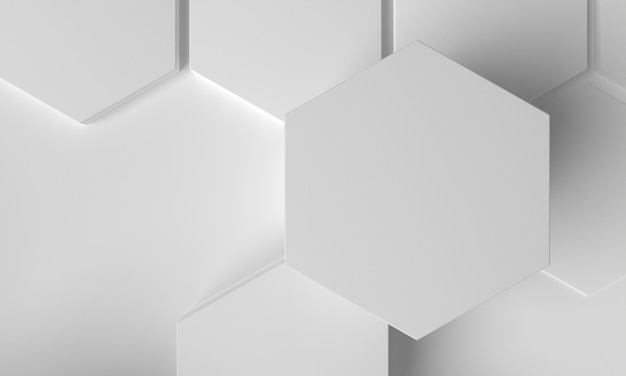 Close-up 3d honeycomb white shape background