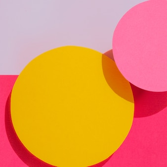 Close-up of abstract circles paper design
