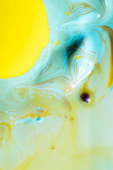 Close-up abstract egg yolk in oil