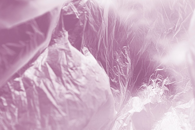 Close-up abstract plastic bag concept