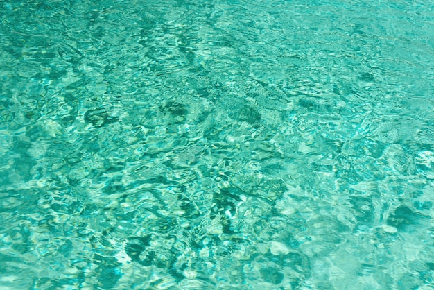 Close up abstract water texture. turquoise swimming pool water background.