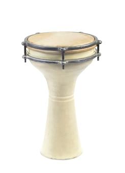 スタジオでアフリカのドラムをクローズアップ