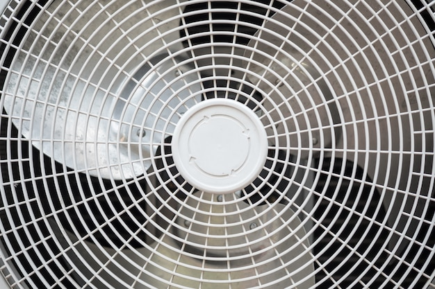 Close up of air conditioning compressor fan.