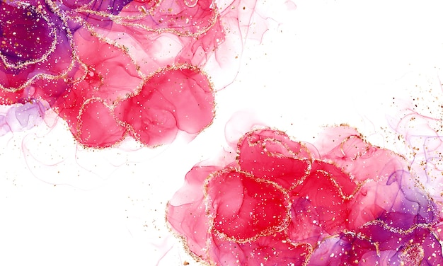Close up on alcohol ink abstract fluid art