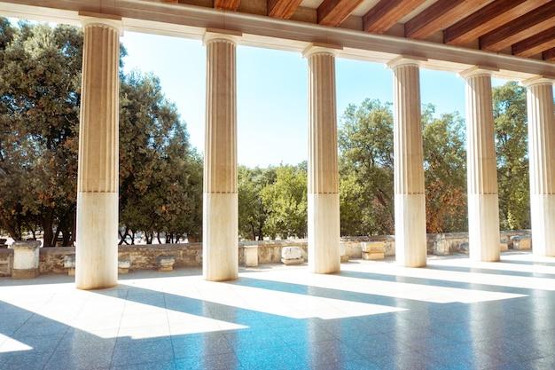 Close up of ancient greek ruins