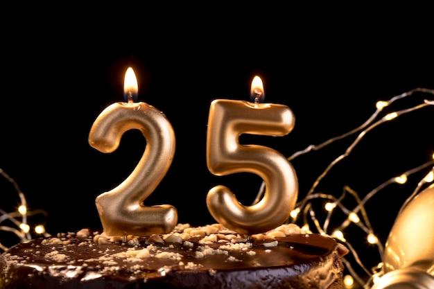 ケーキのクローズアップ周年記念番号