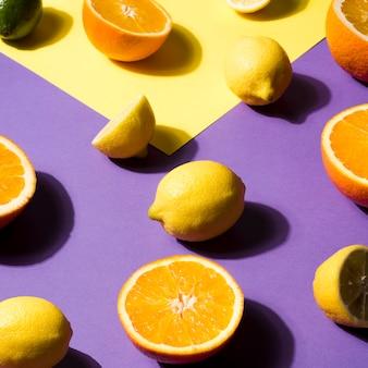 有機果物のクローズアップの配置