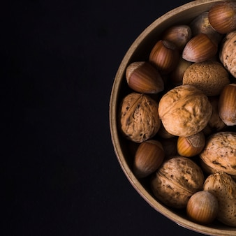 Close-up arrangement of tasty nuts