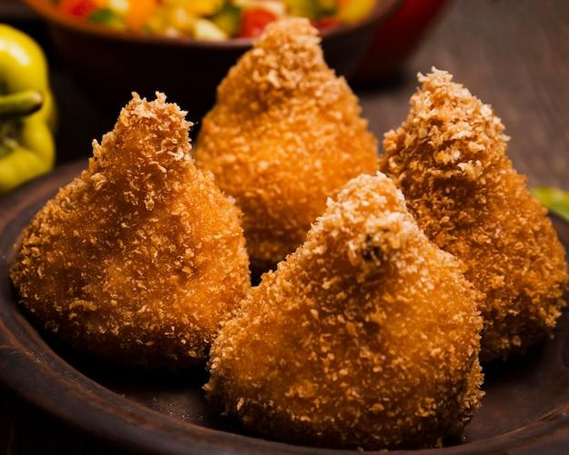 맛있는 브라질 음식과 근접 구색