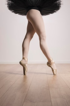 Close up ballerina fit legs