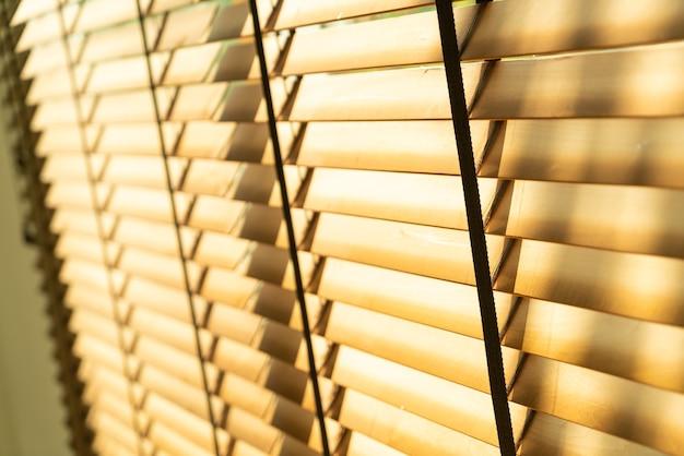클로즈업 대나무 블라인드, 대나무 커튼, 병아리, 베네치아 블라인드 또는 태양 블라인드 - 소프트 포커스 포인트