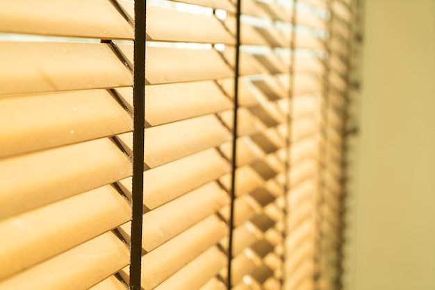Close-up bamboo blind, bamboo curtain, chick, venetian blind or sun-blind