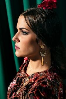 Close-up beautiful gypsy woman