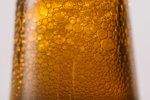 Close-up of a beer bubbles