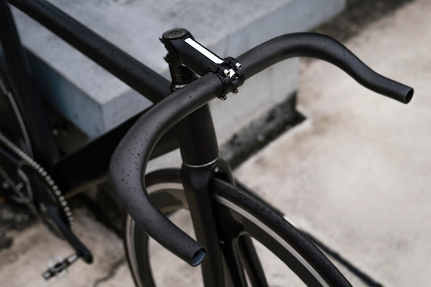 Close up bicycle outdoors