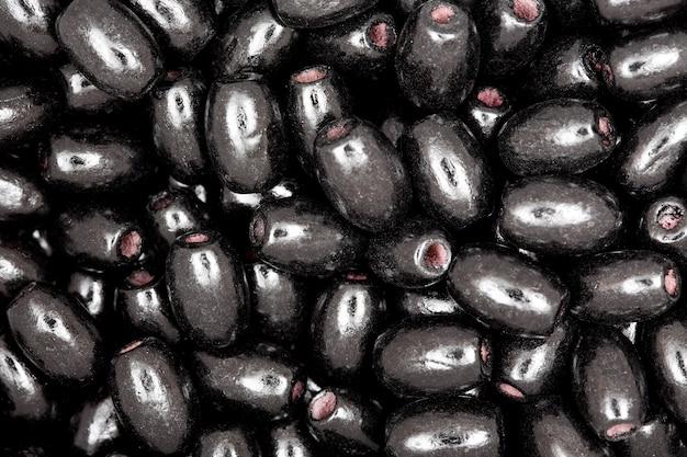 Крупный план черные бусы. текстура. фото в высоком разрешении