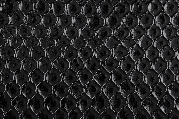 Close up black leather texture and background