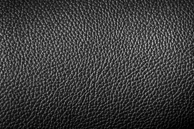 Close up of black leather texture can be use as background