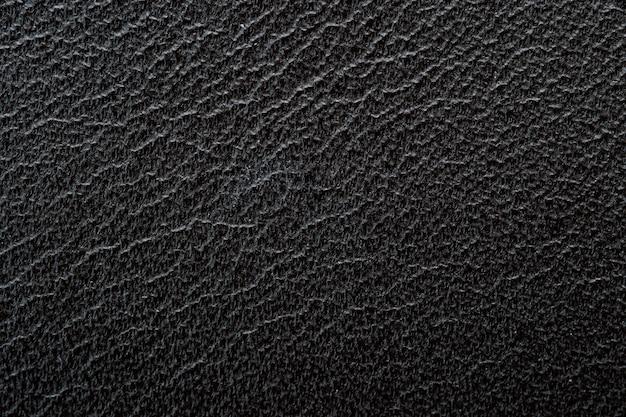 黒のlettherテクスチャ背景を閉じます。グラフィックおよびアートデザイン用。