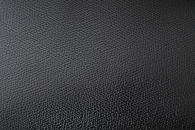 Close up black natural cow leather background