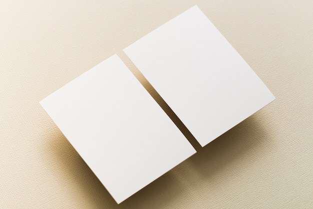 Close-up blank business cards concept