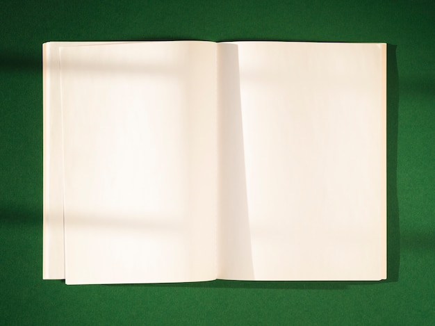Close-up blank papers with shadows