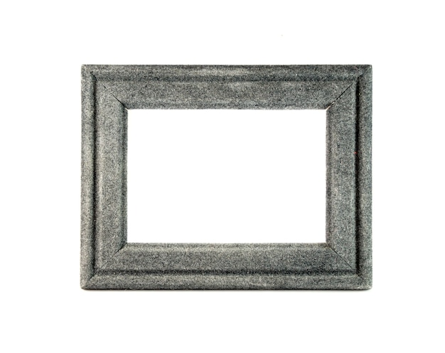 Close up on blank photo frame isolated