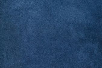 Close up blue color crumpled leather texture background