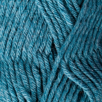 Close-up of blue colored wool yarn