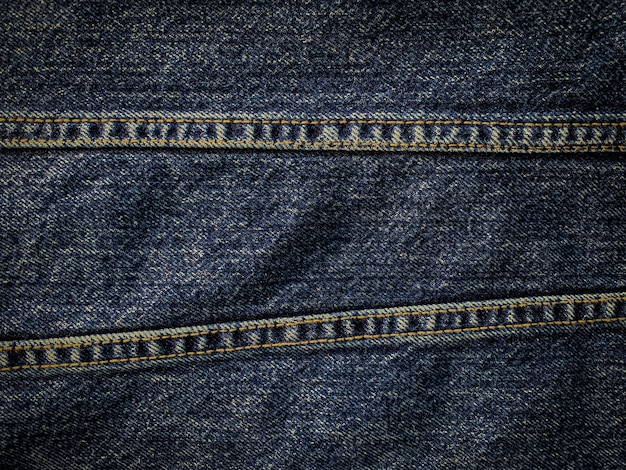 Close up blue denim pattern texture