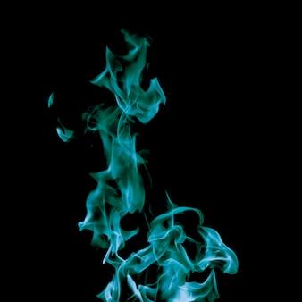 Close-up blue flame