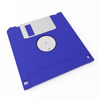 Close up on blue floppy disk back side