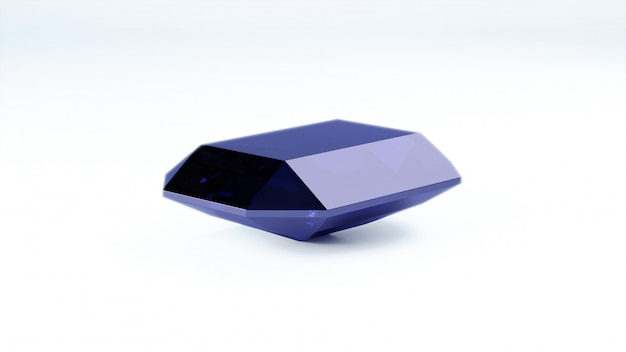 Close up of blue gemstone
