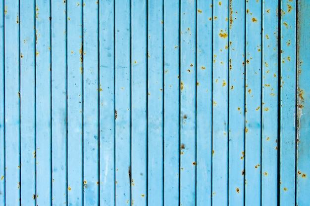 Close up of blue rusty industrial gate