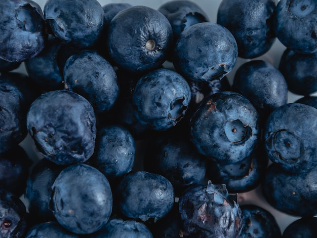 Close-up blueberry texture background.