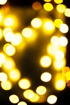 Close-up blurred bright lights