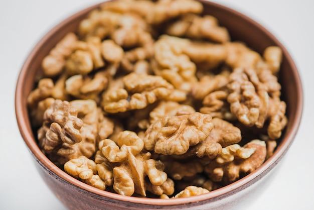 Крупный план с грецкими орехами