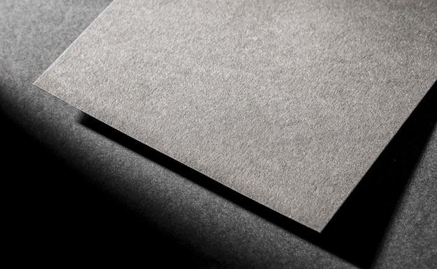 Primo piano branding carta ruvida
