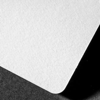 白い素材のクローズアップブランディング