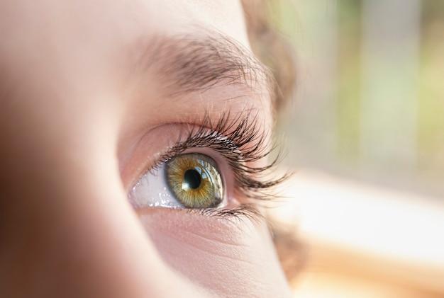 Крупным планом бразильский мальчик зеленые глаза