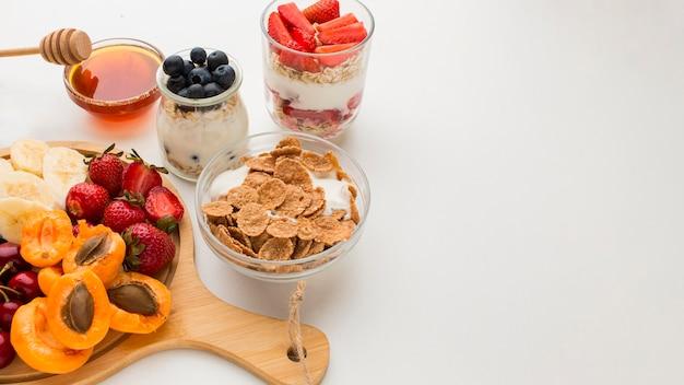 Концепция завтрака крупным планом