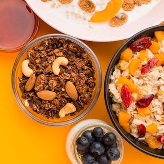 クローズアップの朝食のコンセプト