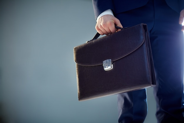 Close-up of a briefcase