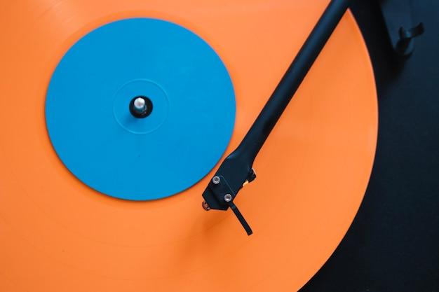 クローズアップ、明るい、ビニール、レコード