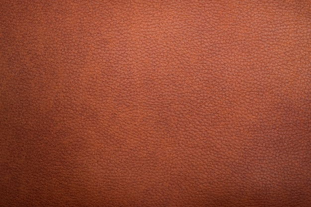 Close up of brown leather