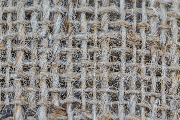 Close-up of brown sackcloth texture use for background