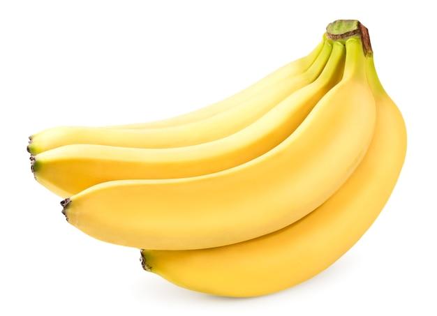 熟したバナナの束をクローズアップ