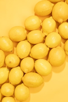 Close-up bunch of organic lemons
