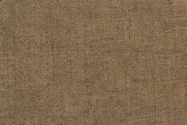 Primo piano di una borsa di iuta di juta con texture di sfondo