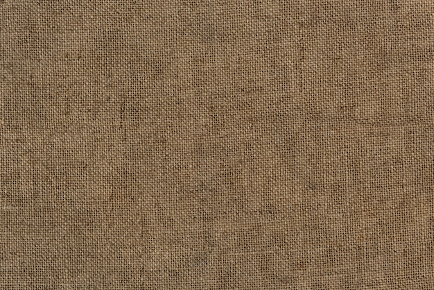 Close up of a burlap jute bag textured background